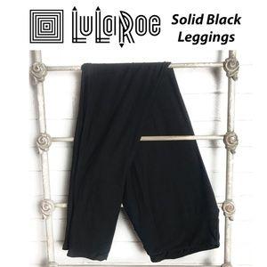 New LuLaRoe Solid Black TC, Tall & Curvy Leggings